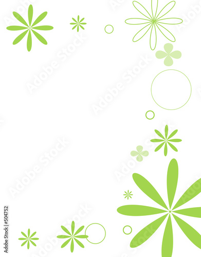 Fototapeta  floral series lime