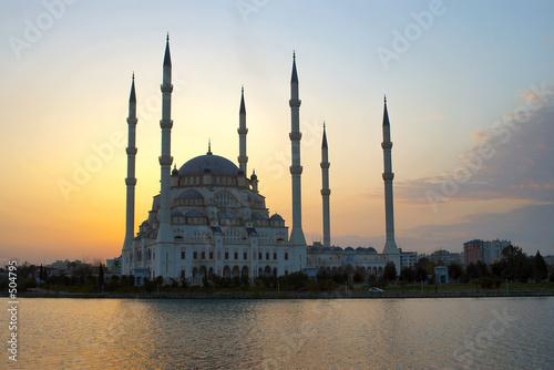 Deurstickers Turkije heaven behind mosque