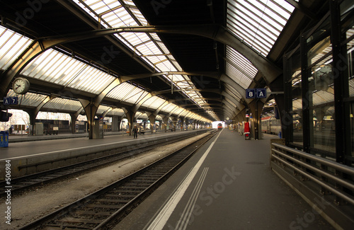 In de dag Treinstation switzerland , zurich: railway station, departure