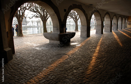 Fotografie, Obraz switzerland: nice view of luzern st the sunset