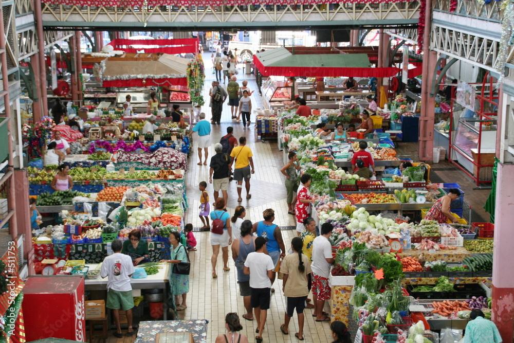 Fototapeta marché centrale de papeete
