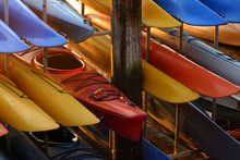 Kayaks In Racks