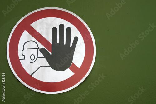 Fotografía  zutritt verboten