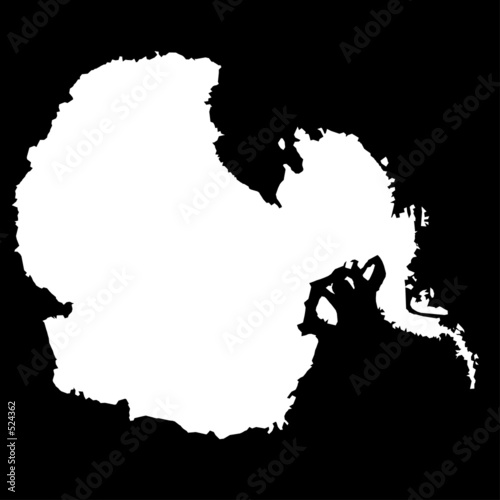 Canvas Print antarctica, antartic region, south pole