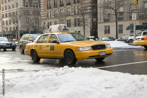 Aluminium Prints New York TAXI new york taxi some motion blur