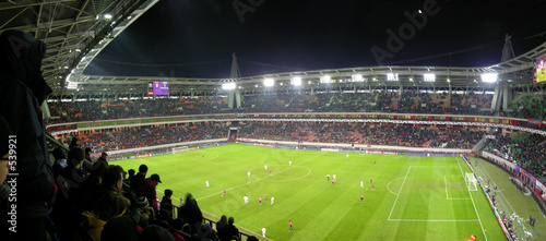 Fotografía panorama of football stadium