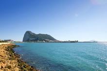 Views To Gibraltar From La Linea In Spain
