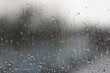 canvas print picture - regen am fenster