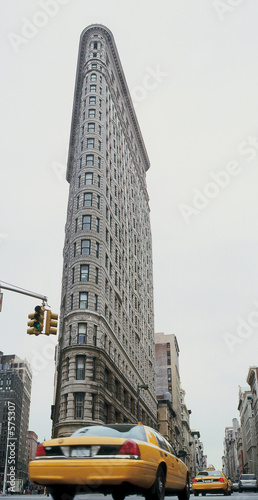 Staande foto New York TAXI flat iron building