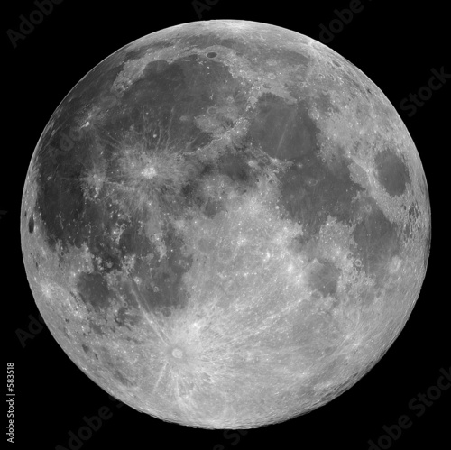 full moon Canvas