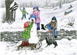 canvas print picture der winter