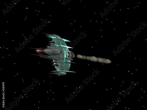 kosmiczny-okret-bojowy-obcych-w-przestrzeni