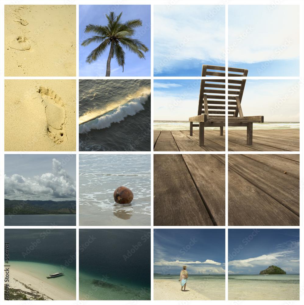 Foto-Schiebegardine Komplettsystem - holiday dreams