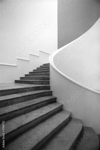 Photo Stands Stairs escalier noir et blanc