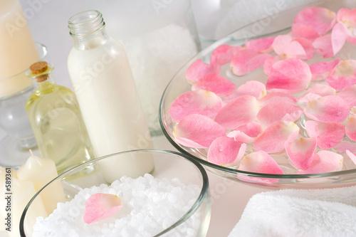 Fotografie, Obraz  rose petal spa