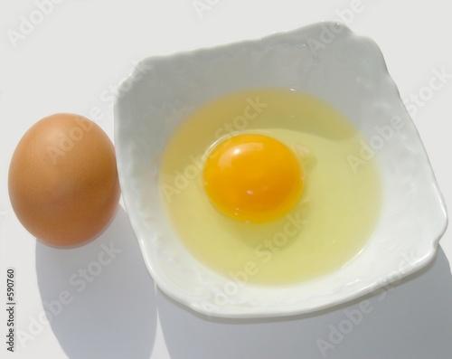 Foto op Plexiglas Gebakken Eieren two hen eggs