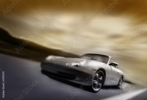 sportcar on the move Wallpaper Mural