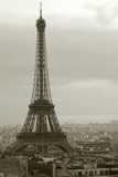 overcast paris and the eiffel tower - 594958