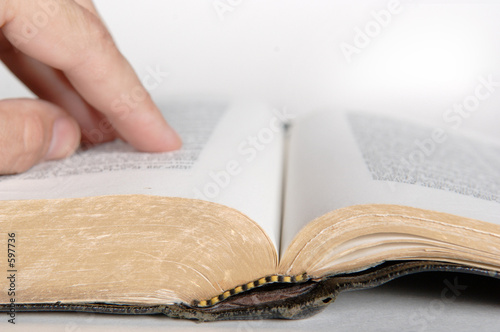 bible being read Canvas Print