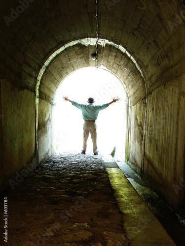 Fotografie, Obraz  tunnel man