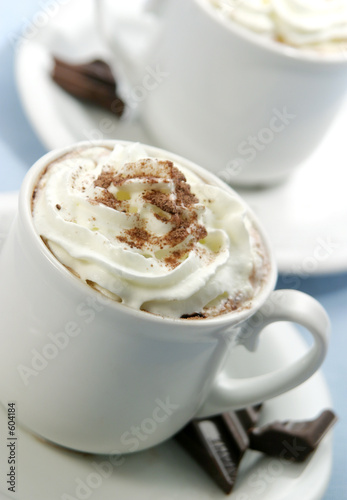 cappuccino or chocolate