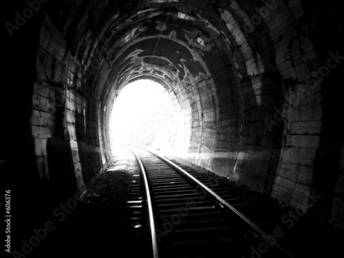 Fotografie, Obraz  end of the tunnel