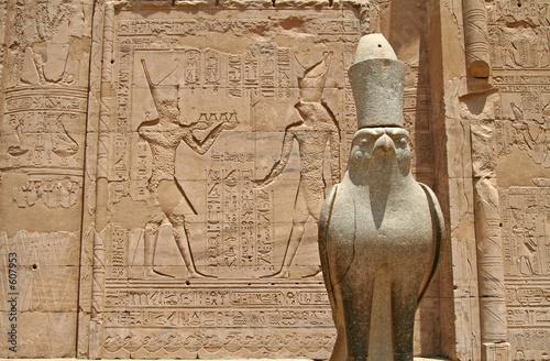 Tuinposter Egypte temple of horus