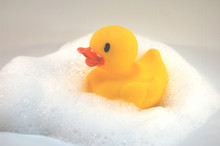 Rubber Duckie With Bubbles