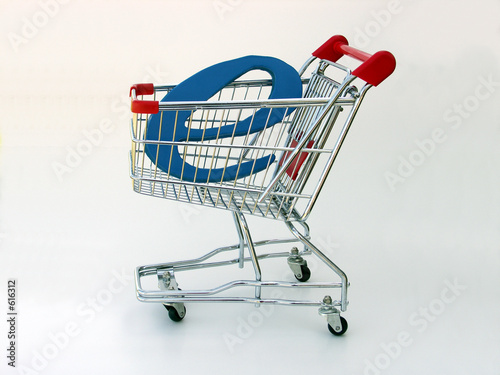 Fotografering  e-commerce shopping cart (side view)