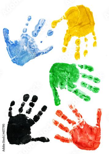 odciski dłoni dziecka