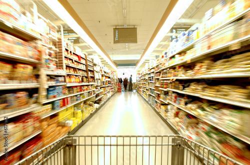 Fotografía  supermarket blur