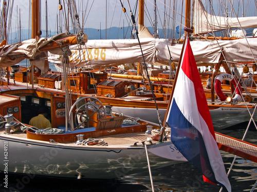 Poster Zeilen bateau à quai