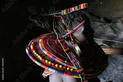 parure de femme samburu Fototapet