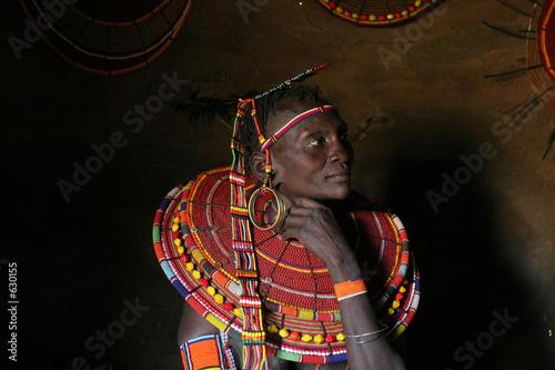 portrait de femme samburu Slika na platnu