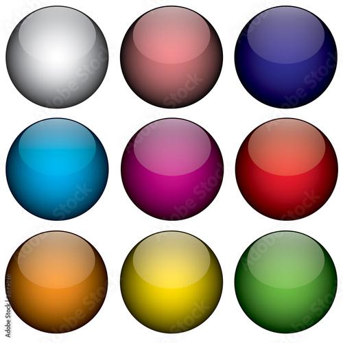 Fotomural nine colorful 3d orbs