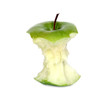 canvas print picture - green apple core