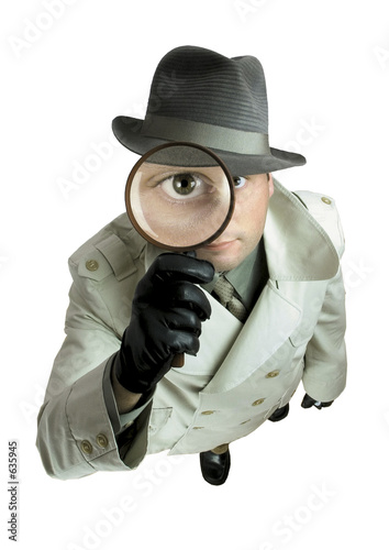 Fotografie, Obraz  detective with magnifying glass 1