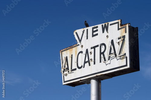 alcatraz sign Wallpaper Mural