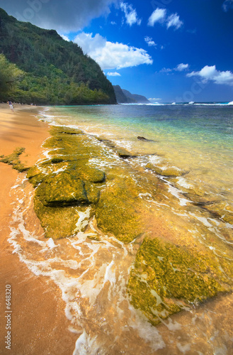 "Community Maske ""army blue"" - na pali coast from ke'e beach, kauai island, hawai (von Jiang Chen)"