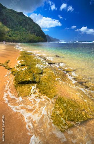 Foto Rollo Basic - na pali coast from ke'e beach, kauai island, hawai