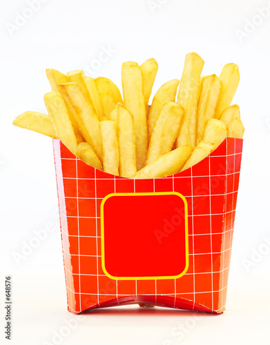 Photo  fries in box