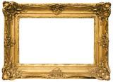 pozłacana drewniana ramka na zdjęcia ze ścieżką (szeroka)