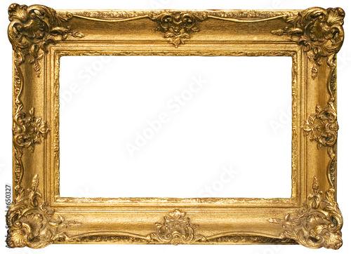 Fotografia  gold plated wooden picture frame w/ path (wide)