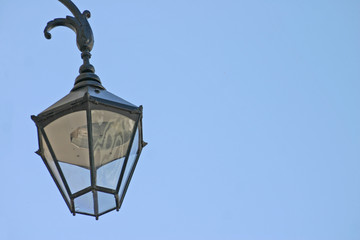 Fototapeta na wymiar old street lamp in chester