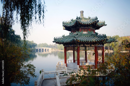 Photo Stands Beijing the forbidden city