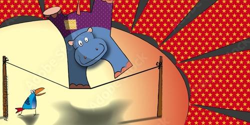 Fototapeta dla dzieci   hipopotam-na-sciane-lub-meble-do-pokoju-dziecka