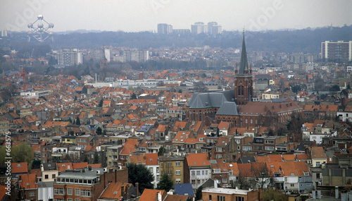 Deurstickers Brussel brussels skyline