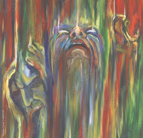 Obraz  three faces - fototapety do salonu