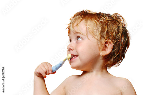 Fotografie, Obraz  brushing teeth