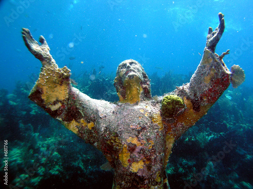 christ of the abyss Canvas Print
